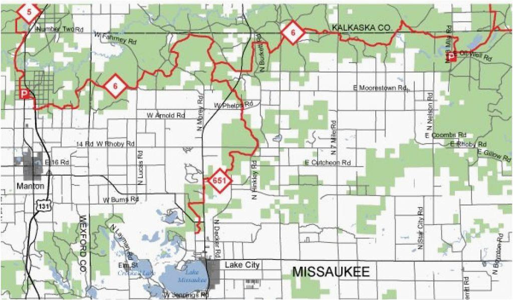 michigan snowmobile trails map snowmobile trails lake city area