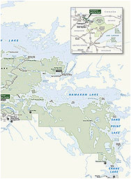 maps voyageurs national park u s national park service