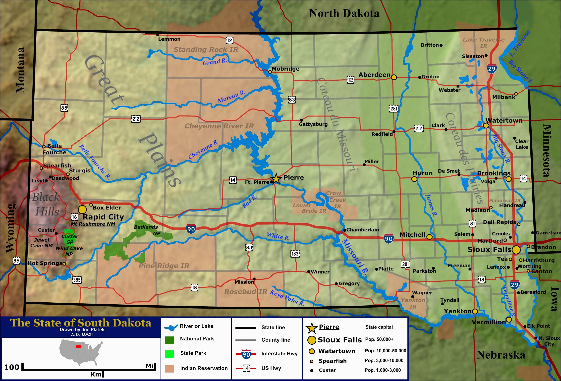 geography of south dakota wikipedia
