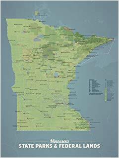 amazon com best maps ever minnesota state parks map 11x14 print