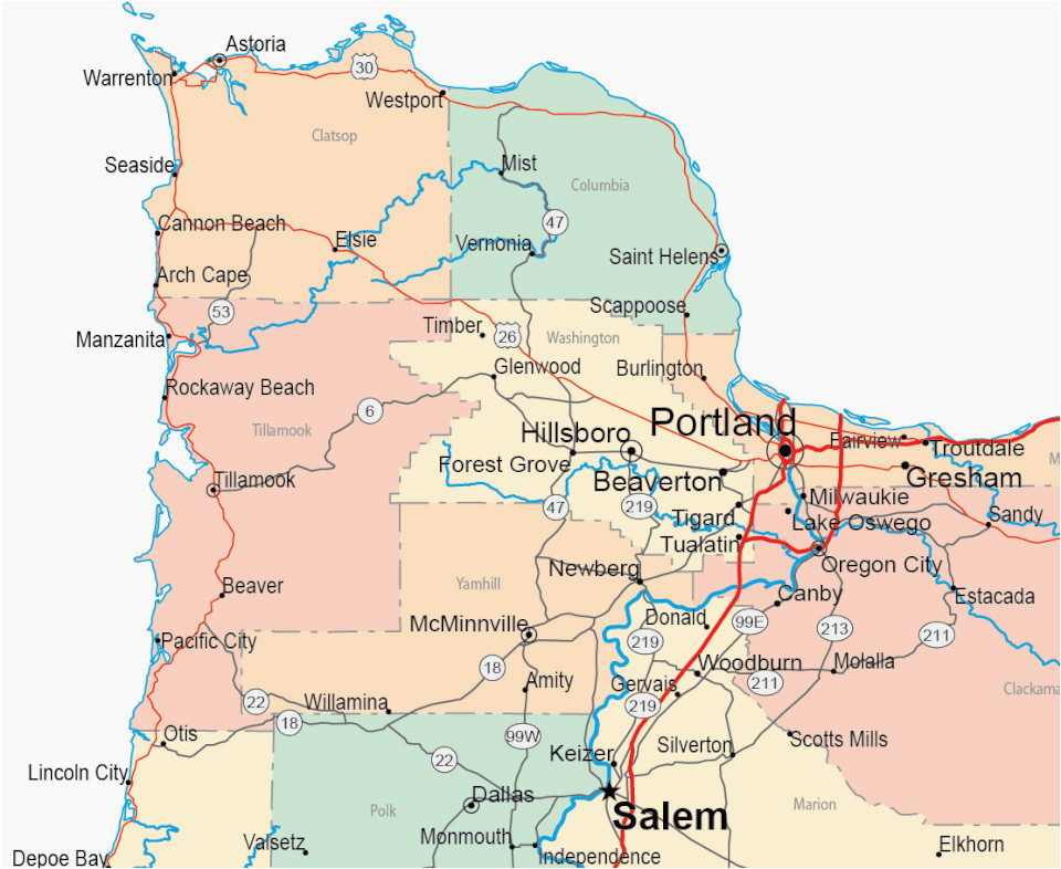 portland oregon county map secretmuseum