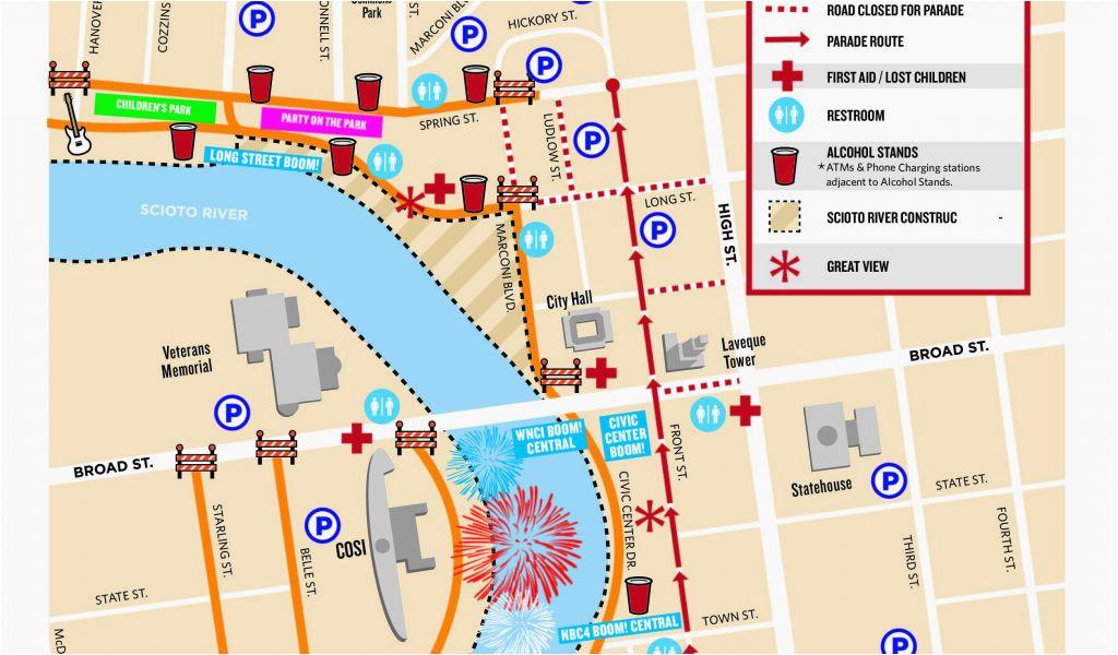 map of columbus ohio airport event guide red white boom secretmuseum