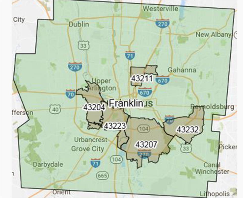 zip code map franklin county ohio secretmuseum