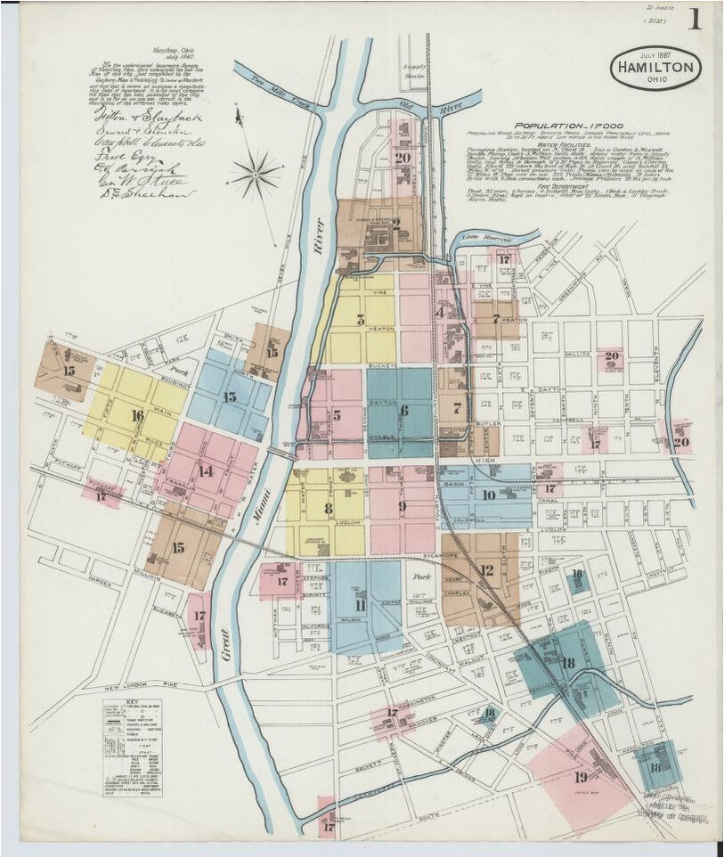 map of eaton ohio map ohio available online library of congress