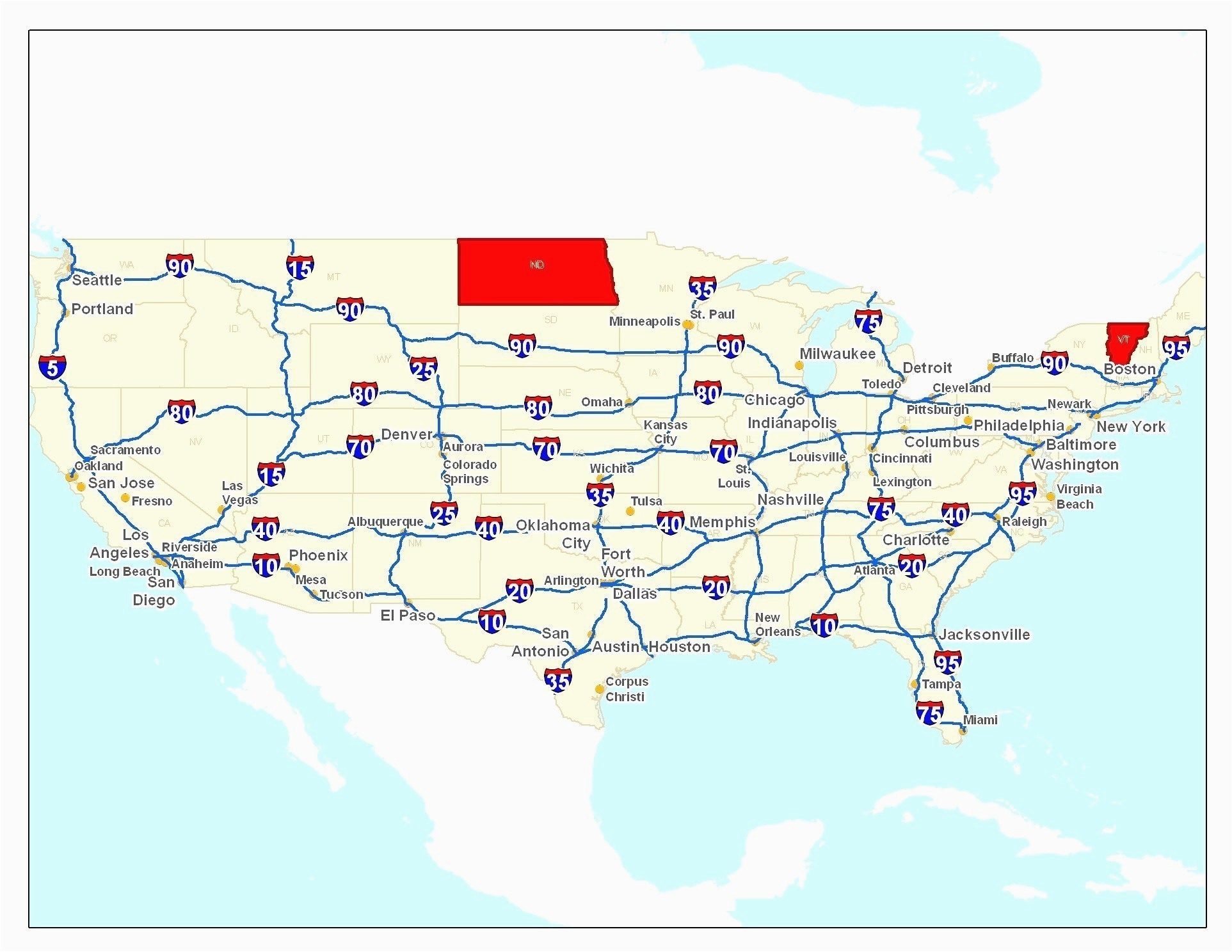 Ohio Interstate Map Map Of the United States Highways Valid ...