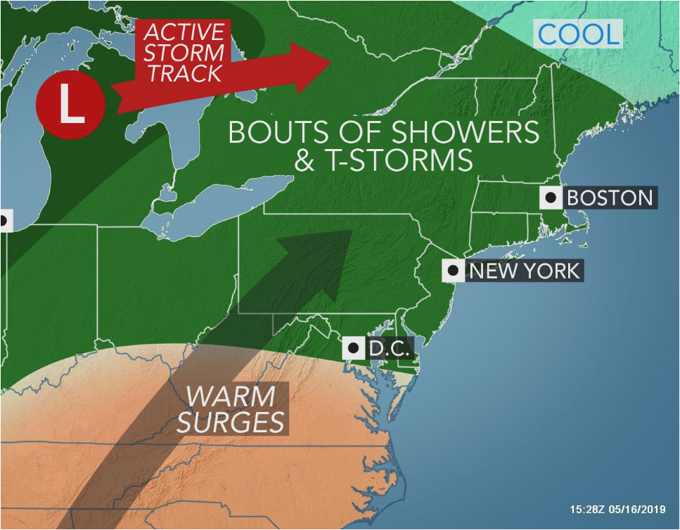 Map Of New York And Ohio.Ohio New York Map 1st 90 Degree Heat In Sight For Parts Of Mid