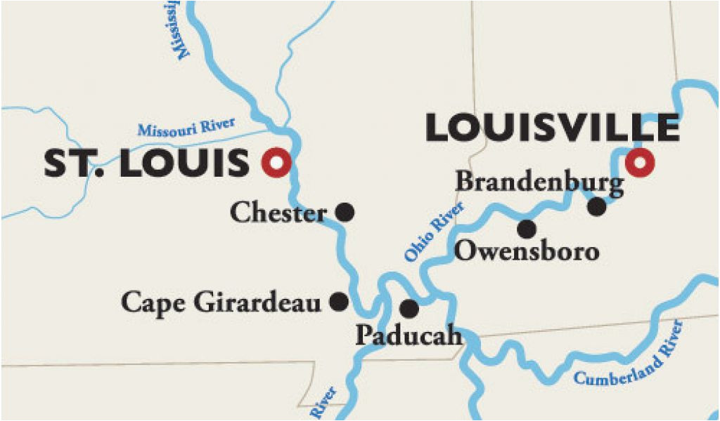 ohio river fishing map louisville to st louis river cruise