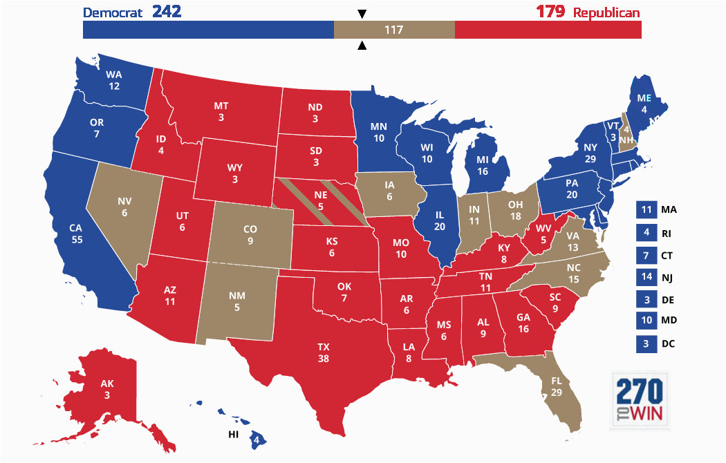 blue and red states