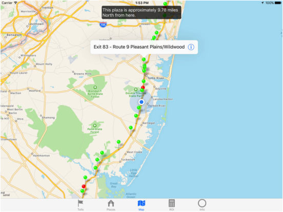 Ohio Turnpike Map Garden State Parkway 2018 App Price Drops