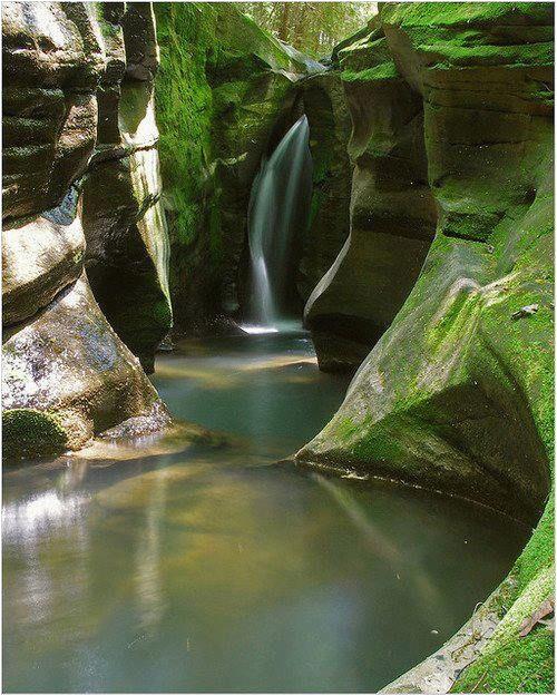 waterfall canyon logan ohio beautiful nature beautiful places