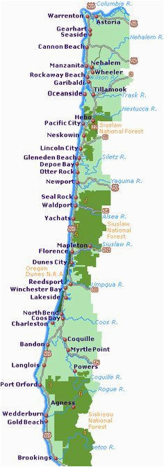 simple oregon coast map with towns and cities projects to try in