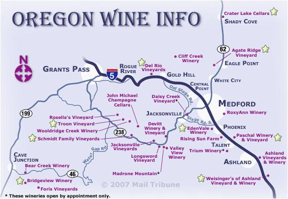 Oregon Coast Wineries Map Oregon Coast Wineries Map oregon Wine Regions Map Secretmuseum