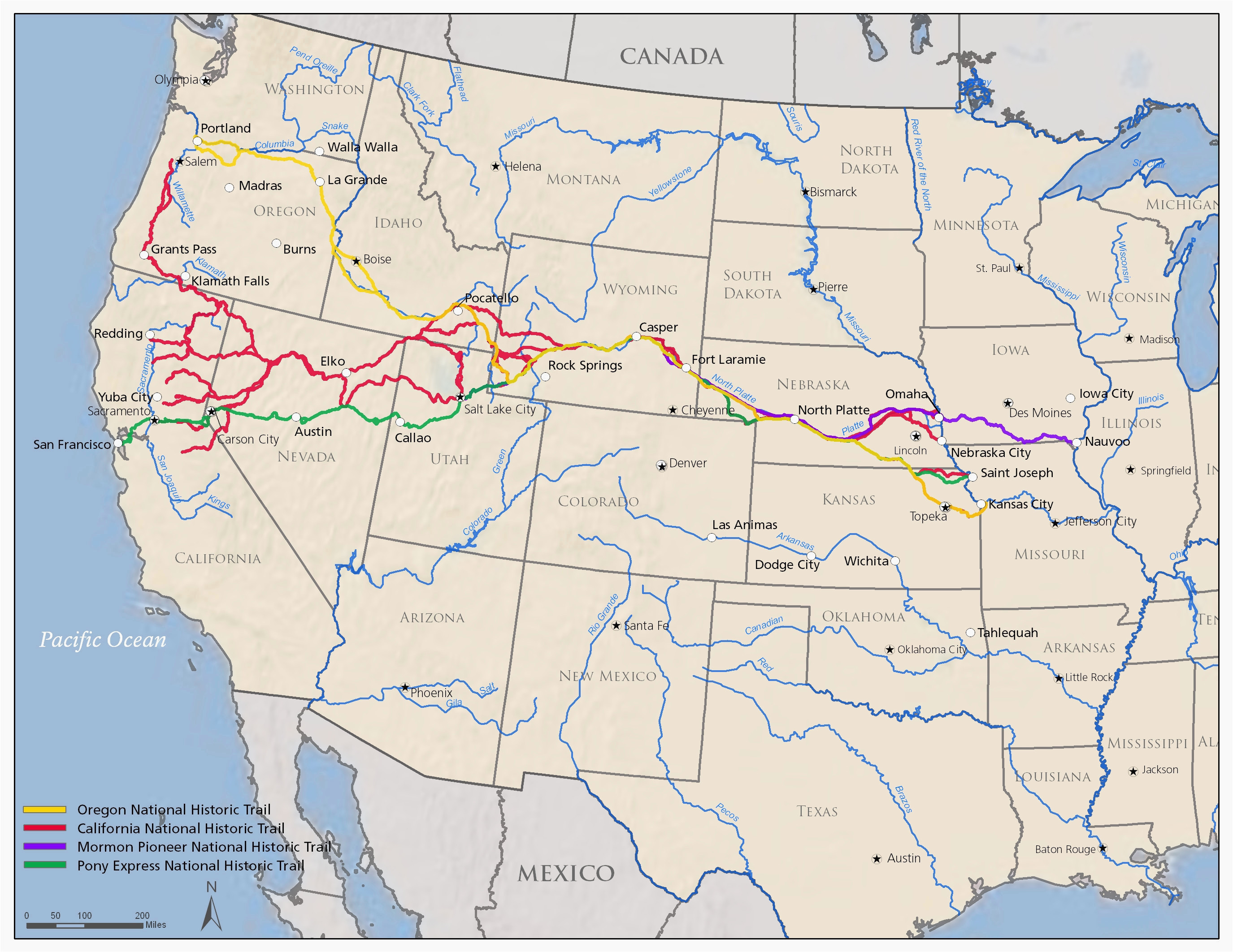 Oregon Coastal Cities Map California oregon Border Map ...