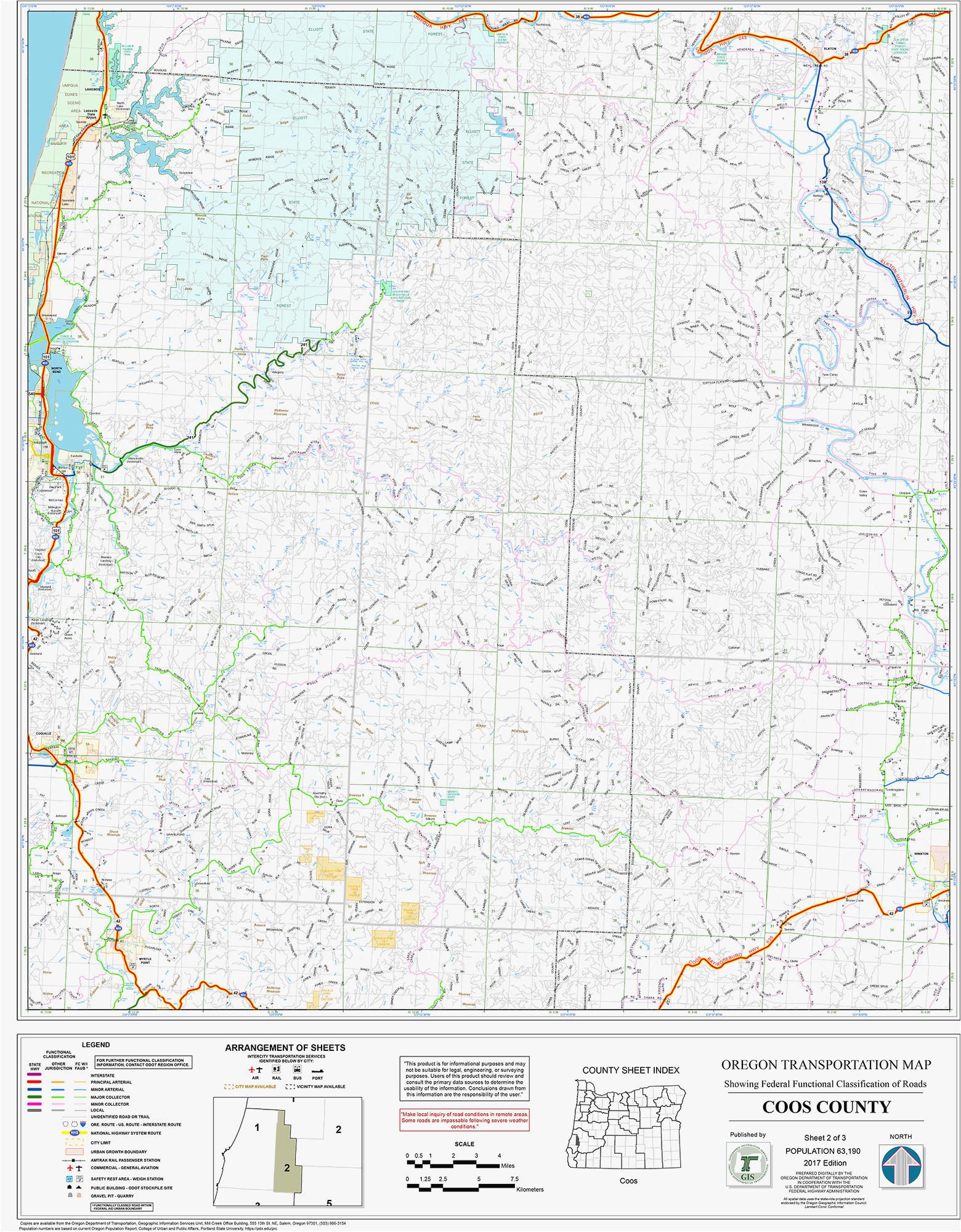Oregon Driving Map Secretmuseum