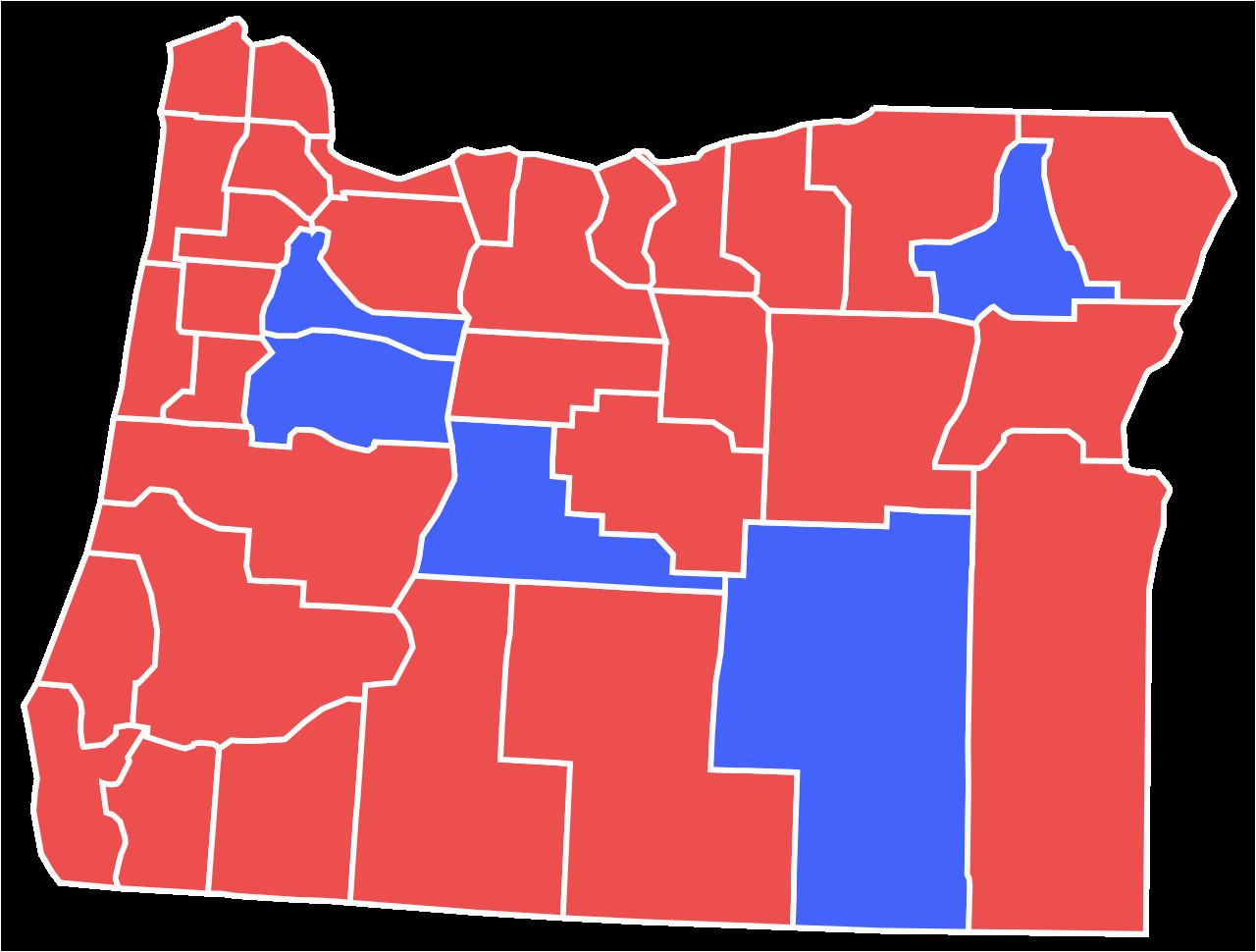Oregon Election Map Secretmuseum