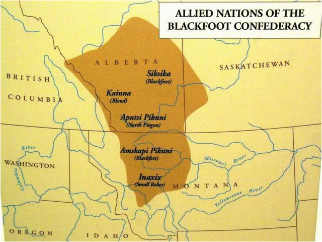 blackfoot confederacy sometimes referred to as the blackfoot