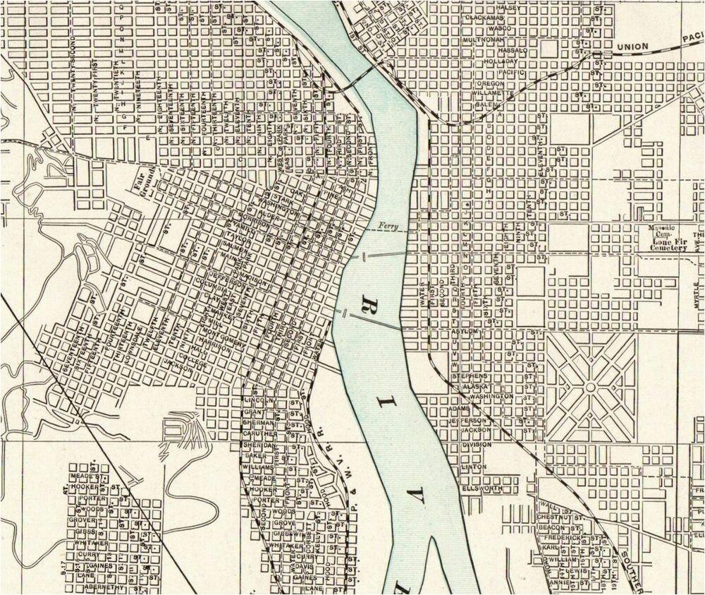 details about 1903 antique portland city map vintage map of portland