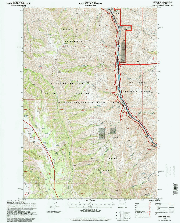Oregon National forest Map forest Service Maps oregon ...