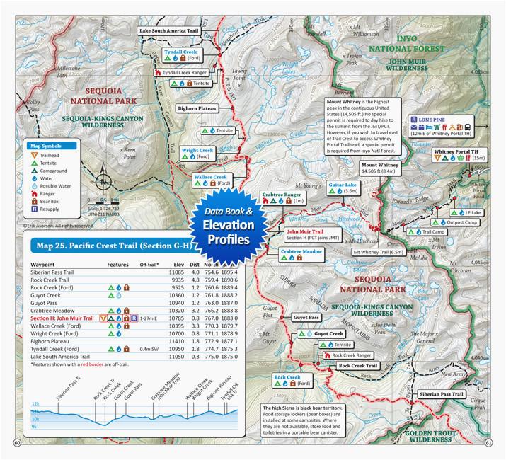 pacific crest trail map southern california secretmuseum