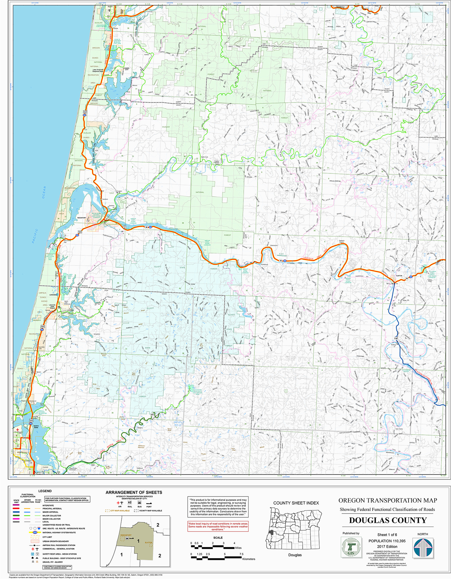 Oregon State Campgrounds Map Orww Elliott State Forest Maps