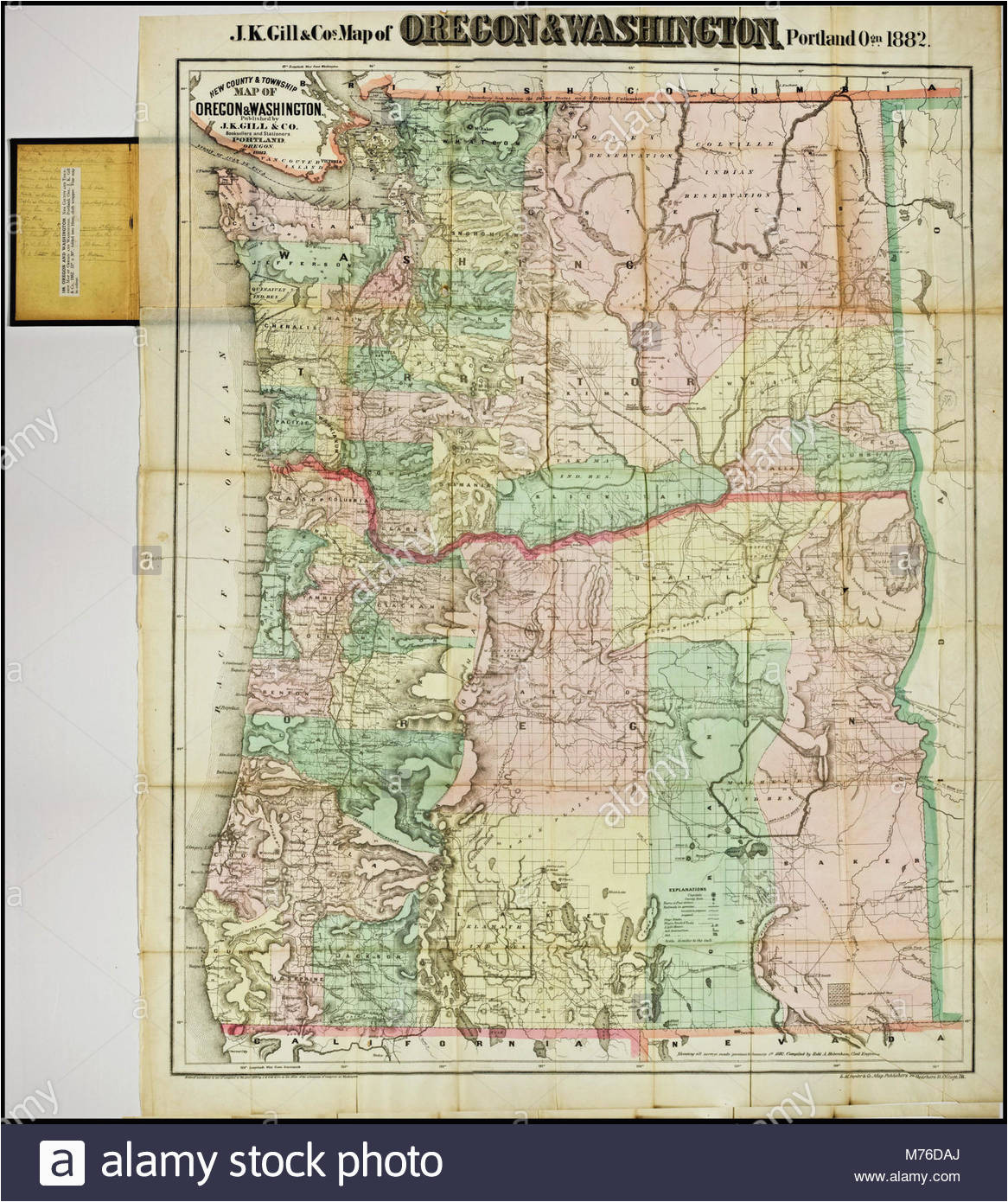 Oregon Township And Range Map Oregon township and Range Map oregon Washington Map Stock Photos
