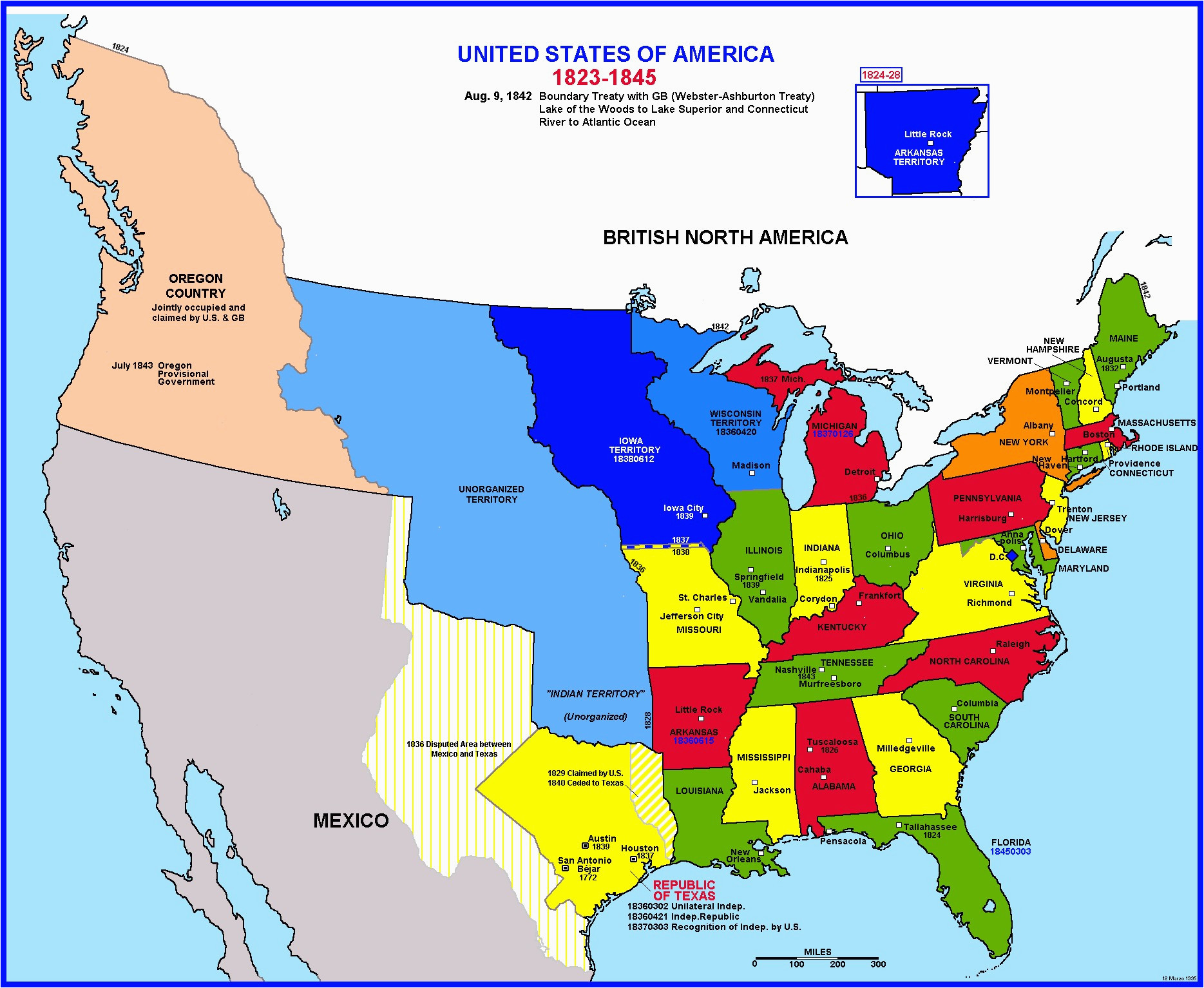 Oregon Treaty Map Inspirational Map Of Us Territories In ...