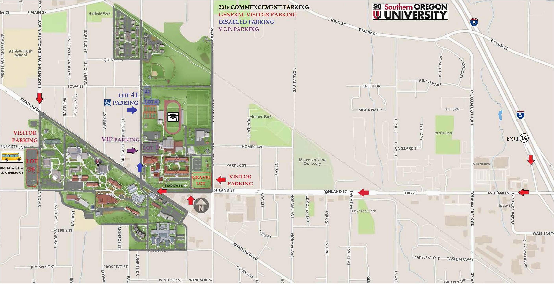 Oregon University Campus Map sou Campus Map Park Ideas ...