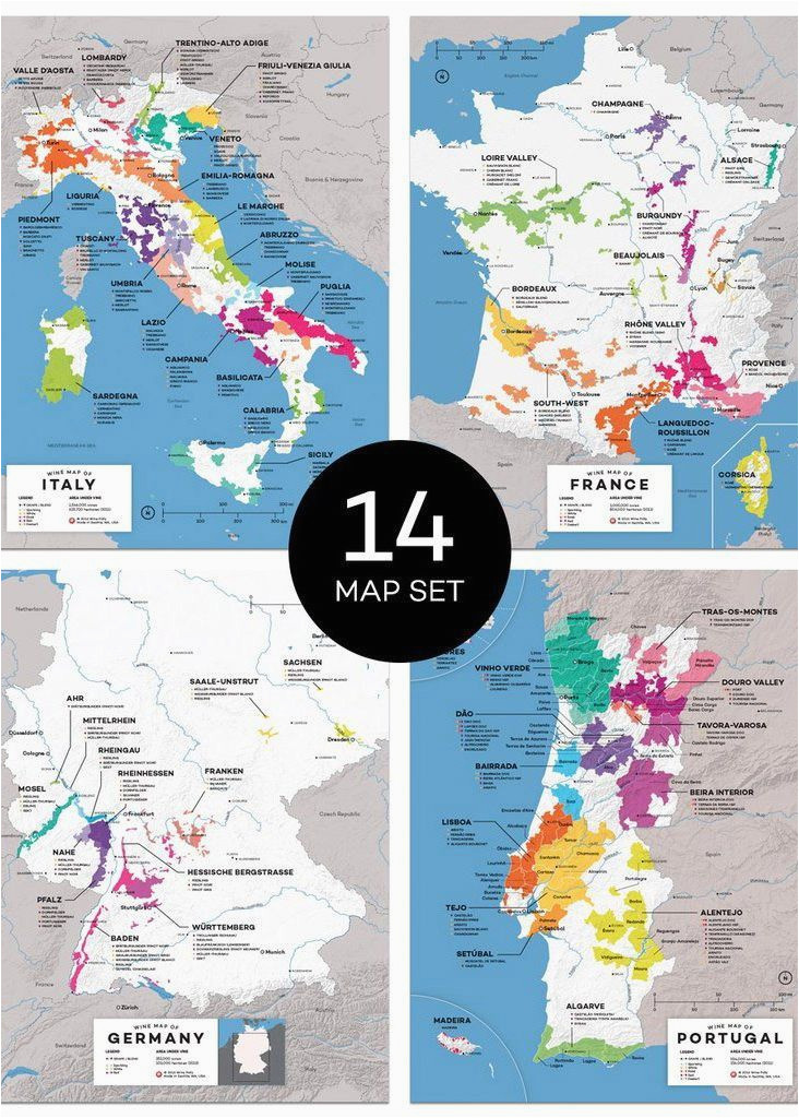 maps major wine countries set in 2019 from our official store