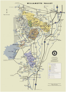 wv wineries map poster portland and willamette valley region