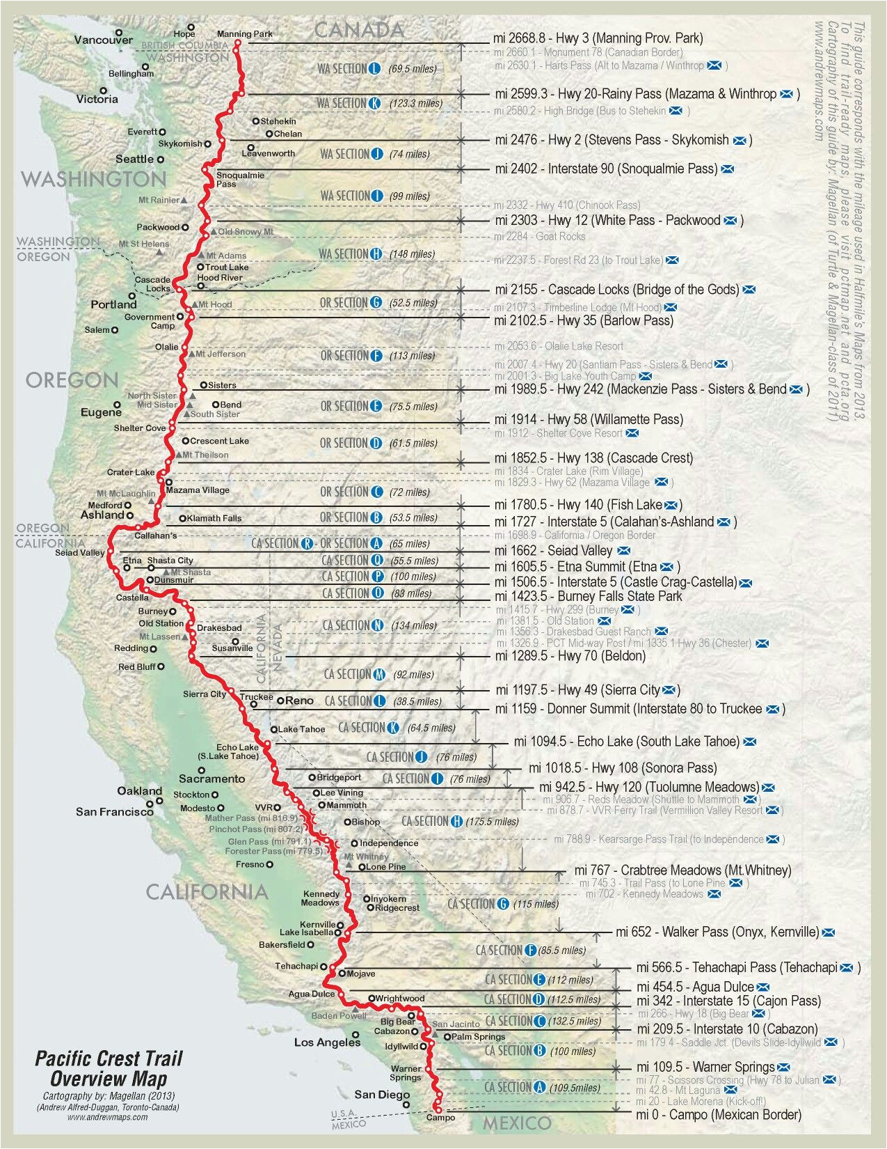 Pct oregon Map Pin by Matthew Paulson On Pacific Crest Trail Thru ...