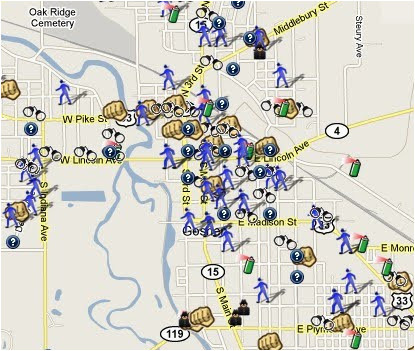 Portland oregon Crime Map Goshen In Crime Map Protect Yourself Against theft Spotcrime