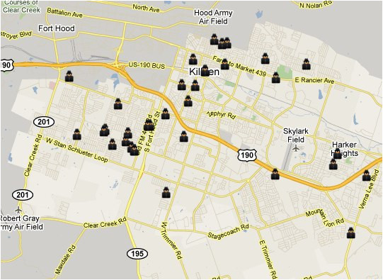 killeen tx burglary map spotcrime the public s crime map