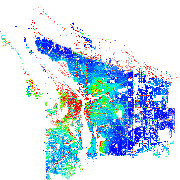 portland oregon or profile population maps real estate