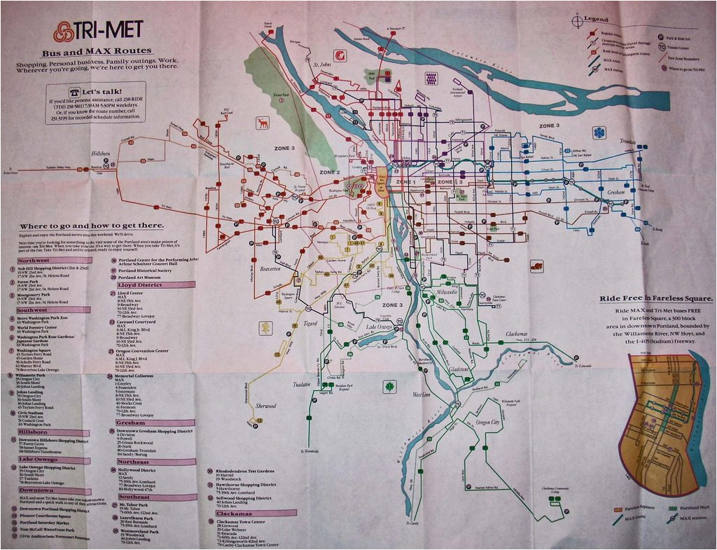 transit maps historical map trimet bus and max routes portland