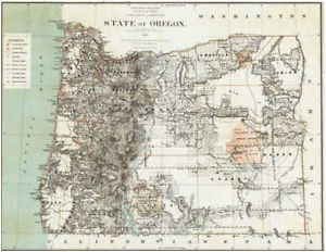 details about 1879 oregon map or hillsboro madras north bend molalla