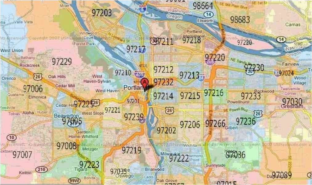 hillsboro oregon zip code map printable zip code map portland oregon
