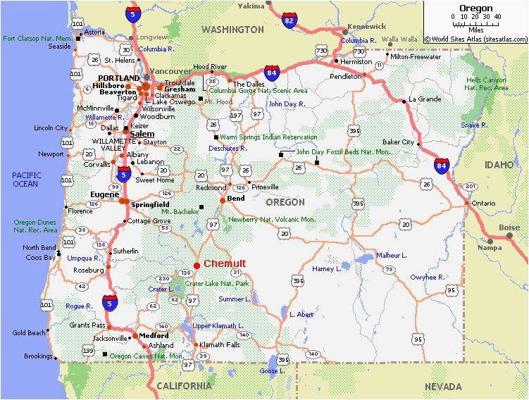 Sandy River Oregon Map Chemult Oregon Map Secretmuseum