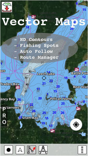 minnesota fishing lake maps navigation charts on the app store