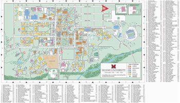 oxford campus map miami university click to pdf download trees