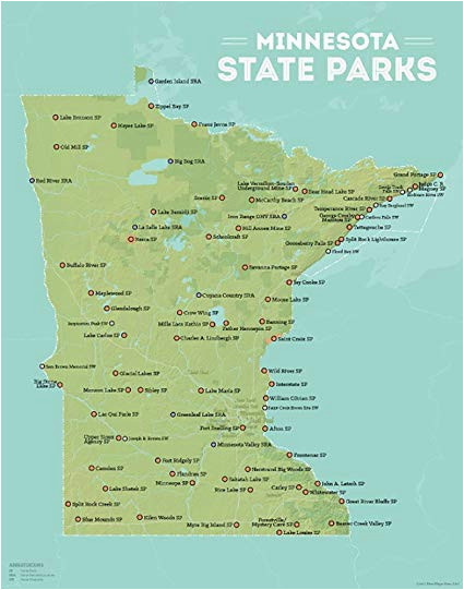 amazon com best maps ever minnesota state parks map 11x14 print