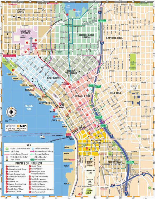 Street Map Of Downtown Portland Oregon Map Of Downtown