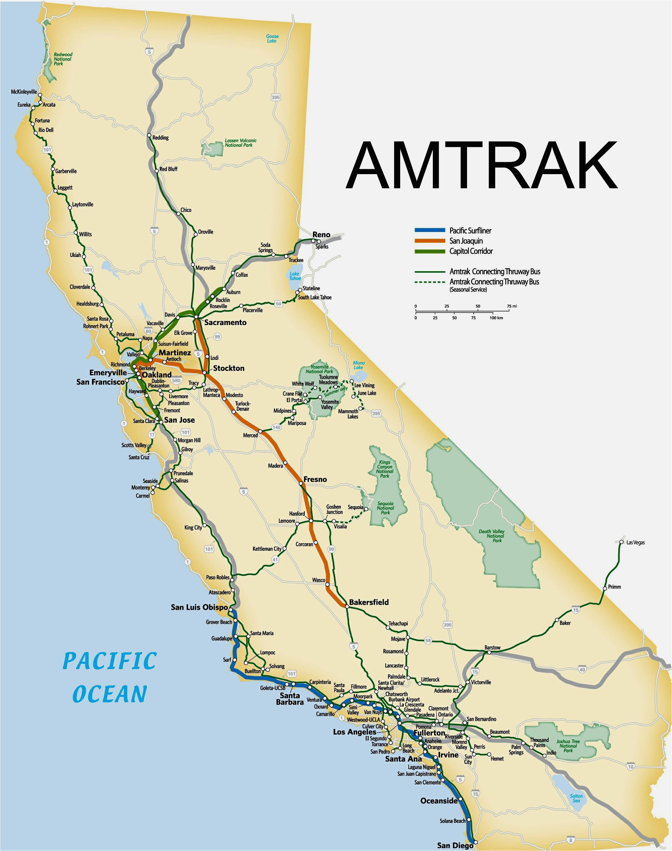 Tennessee Amtrak Stations Map Amtrack Map Of Routes In Us ...