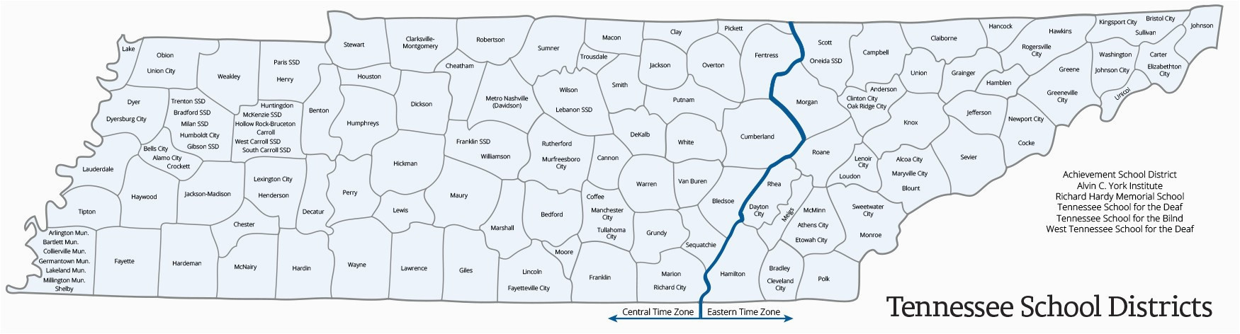 Us Time Zone Map Tennessee Tennessee Map With Time Zones   universe map travel and codes