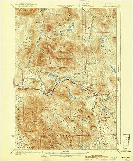 amazon com yellowmaps percy nh topo map 1 62500 scale 15 x 15