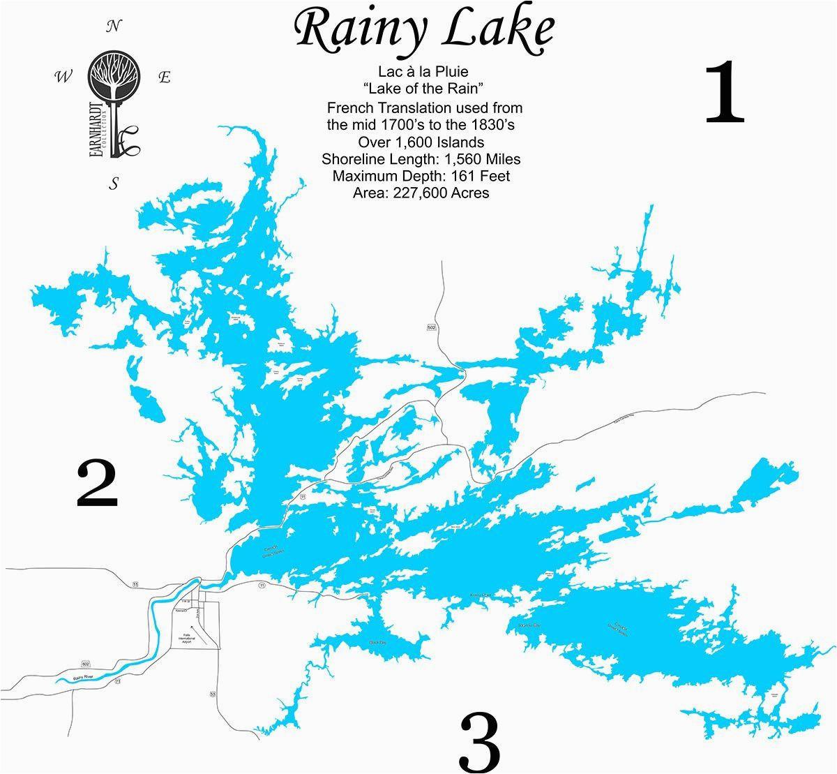 rainy lake minnesota wood laser cut map earnhardt collection
