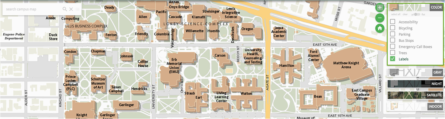 Western oregon University Campus Map Maps University Of ...