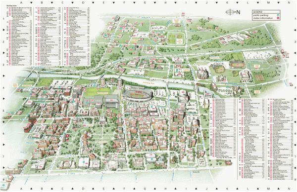 ohio state university map of campus secretmuseum