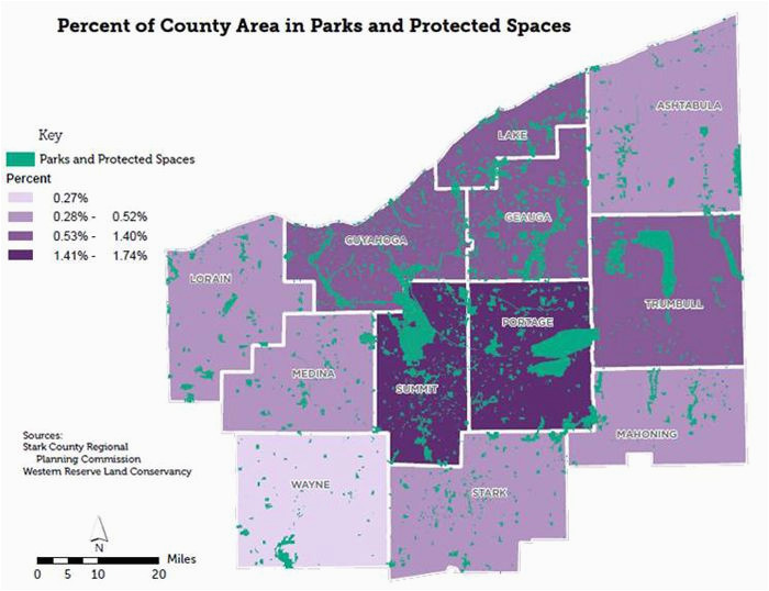 parks and protected spaces in neo counties map ne ohio activities