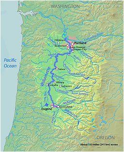 river map of oregon secretmuseum