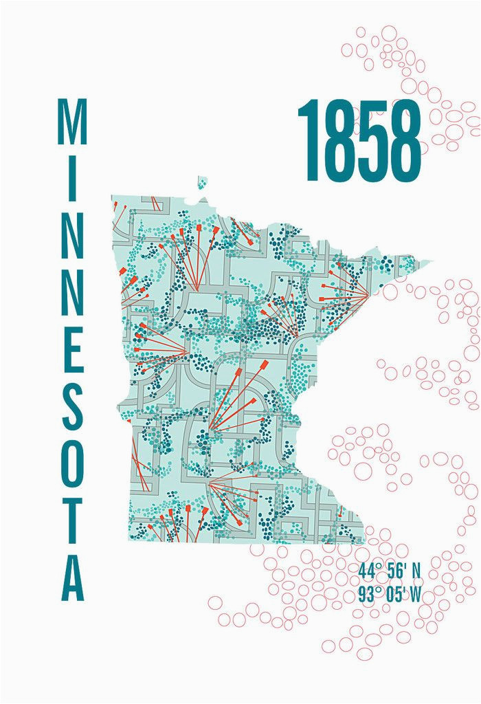 minnesota map print jhill design map prints things for my wall